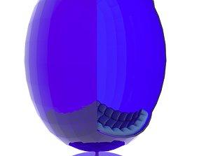 Egg Chair 3D model boy