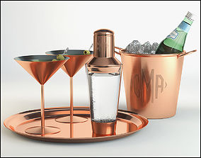 3D Cocktail with shaker 02