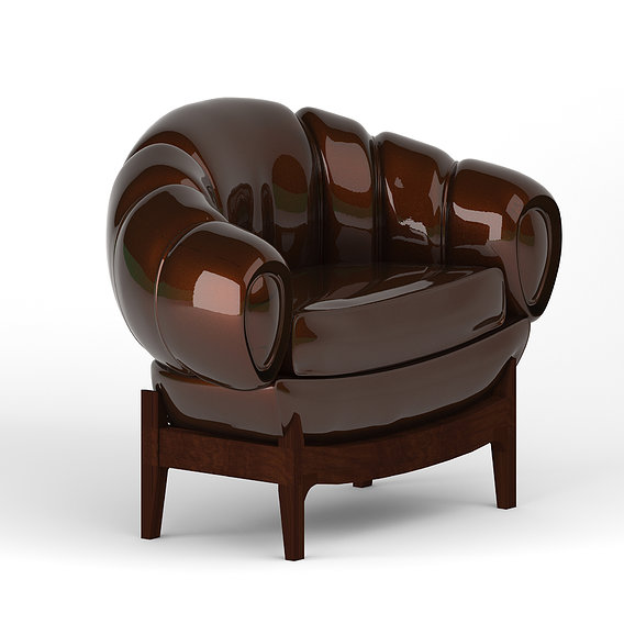 Luxury Leather Chair Design Materials Lights Rendering 3DSMAX 3D model