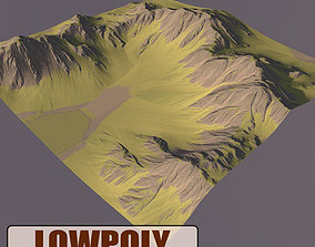 Lowpoly Mountain 3D asset VR / AR ready dae
