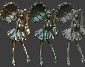 toon Anime Girls 001 3D Printable