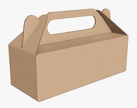 3D Gable box cardboard food packing 04