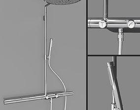 3D PBR AXOR Shower Solutions Showerpipe 800