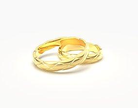 Quilted motif narrow rings 3D printable model