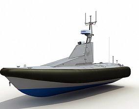 3D Homeland Security Unmanned Patrol Boat