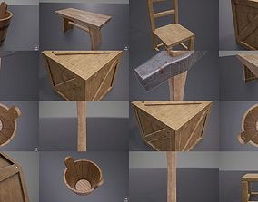 3D Medieval Game Props