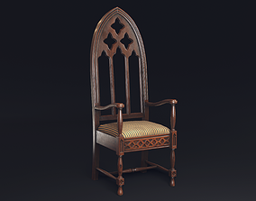 game-ready Gothic Chair game model