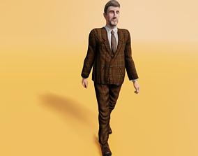 Business Man - Animated low-poly character 3D asset