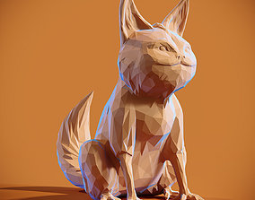 Low poly Loth Cat Papercraft 3D printable model