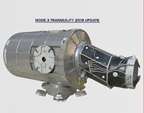 Node Three Tranquility module on ISS 3D model