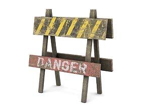 3D model Road Sign Danger