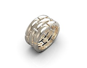 Stripes ring 3D print model