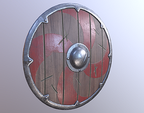 3D model Viking Shield Low Poly Game Ready