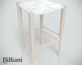 italian 3D model Billiani Vincent VG stool 445 white