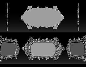 Classic wood mirror frame 3D printable model