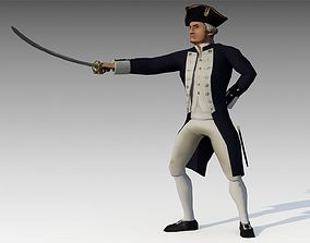 3D asset Captain Cook