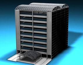 3D Car parking building