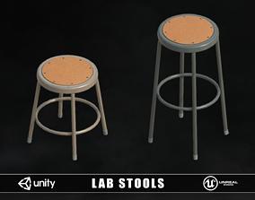 3D model Lab Stools