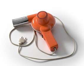 Italian Hair Dryer Vintage Orange 3D