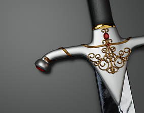 3D model The Red Gem Sword