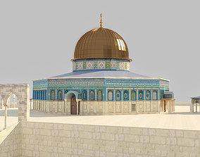 3D model Dome of the Rock Jerusalem qubbat