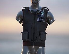 Realistic Police Vest 3d model realtime