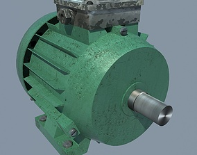 Electric Motor engine 3D model