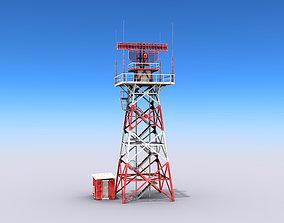 3D model realtime Big Radar Tower
