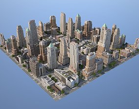City KC7 Art Deco 3D model game-ready
