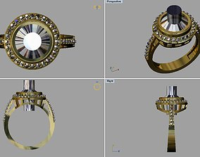 illustration 3D printable model Gold Ring
