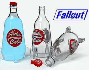 Bottle of Nuka-cola with a cap 3d model for printing