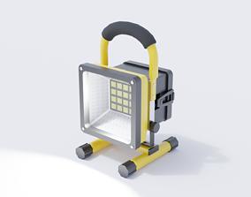 Construction Work Light 3D model realtime