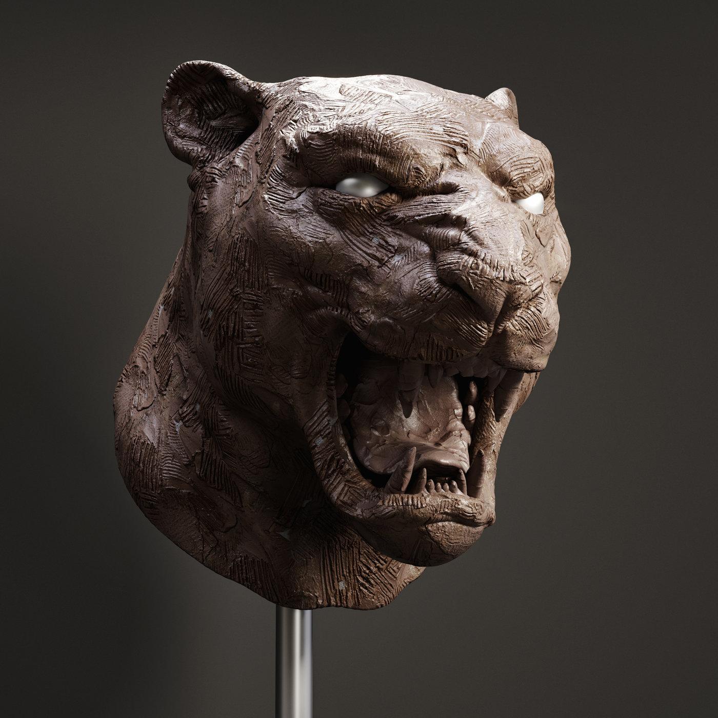 Jaguar Bust