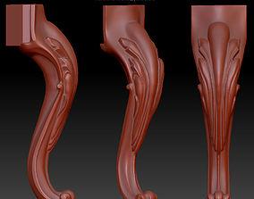3D print model carved leg