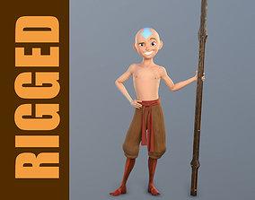 Aang Rig 3D asset