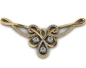 Pendant model with diamonds and monograms