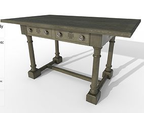 Old table 3D model game-ready