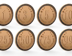 3D asset Coins