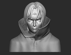 3D print model itachi bust - naruto