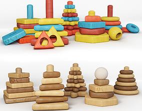 3D Children toy pyramid