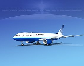 3D Boeing 787-8 United Airlines