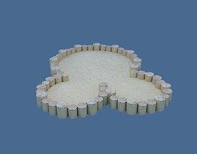 Sandbox 3D asset