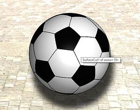 3D model sport Football
