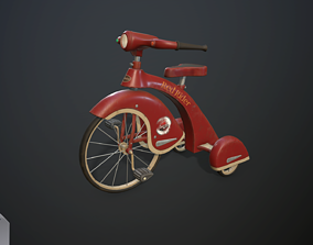 3D asset Children bicycle