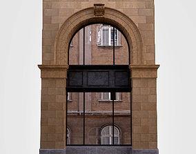 3D model Classic windows arc facad