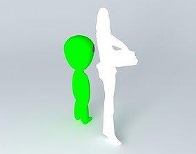 3D model Fusion the alien