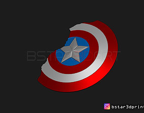 Captain America Shield Damaged - Infinity 3D print model 2