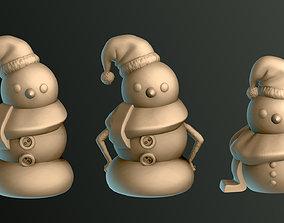 3D print model Snowman for Christmas