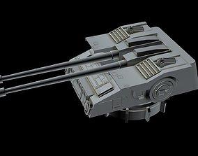 3D model Turbolaser canon 2