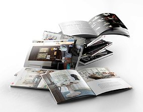3D Books and Magazines